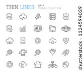 collection of data thin line...