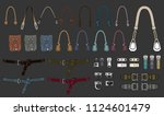 handbag accessories... | Shutterstock .eps vector #1124601479