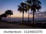 molos promenade and skyline of... | Shutterstock . vector #1124602370