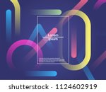 geometric background. color... | Shutterstock .eps vector #1124602919