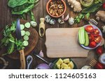 various food ingredients.... | Shutterstock . vector #1124605163