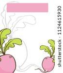 radish  vegetarian set. hand... | Shutterstock .eps vector #1124615930