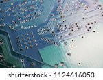 printed circuit board underside ... | Shutterstock . vector #1124616053