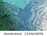 printed circuit board underside ... | Shutterstock . vector #1124616056