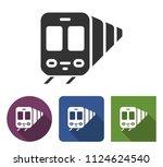 train icon in different... | Shutterstock . vector #1124624540
