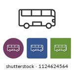 line icon of bus in different... | Shutterstock . vector #1124624564