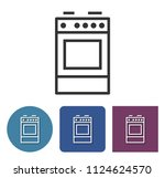 cooker line icon in different... | Shutterstock . vector #1124624570