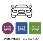 line icon of car in different... | Shutterstock . vector #1124624654