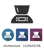 kitchen scales icon in... | Shutterstock . vector #1124625158