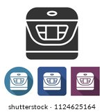 multicooker icon in different... | Shutterstock . vector #1124625164