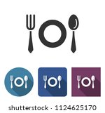 tableware icon in different... | Shutterstock . vector #1124625170