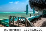 acation on maldives. tropical... | Shutterstock . vector #1124626220