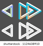 unreal shapes  vector | Shutterstock .eps vector #1124638910