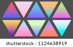 holographic gradient triangle ... | Shutterstock .eps vector #1124638919
