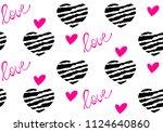 vector illustration  seamless... | Shutterstock .eps vector #1124640860