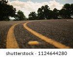 asphalt street up close | Shutterstock . vector #1124644280