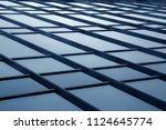 sky visible through glass... | Shutterstock . vector #1124645774