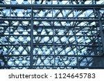 steel framework of industrial...   Shutterstock . vector #1124645783