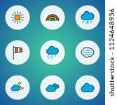 climate icons colored line set... | Shutterstock .eps vector #1124648936