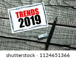 trends 2019 inscription in... | Shutterstock . vector #1124651366
