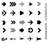 flat design vector black arrow...