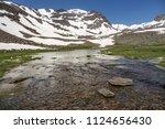 lake under mulhacen  the... | Shutterstock . vector #1124656430