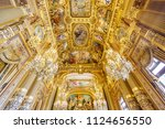 paris  france  may 17  view of... | Shutterstock . vector #1124656550