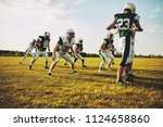 group of young american... | Shutterstock . vector #1124658860