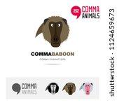 baboon ape animal concept icon... | Shutterstock .eps vector #1124659673