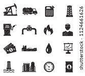 oil icons. black scribble... | Shutterstock .eps vector #1124661626