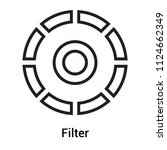 filter icon vector isolated on... | Shutterstock .eps vector #1124662349