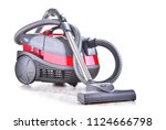 canister vacuum cleaner for... | Shutterstock . vector #1124666798