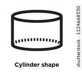cylinder shape icon vector... | Shutterstock .eps vector #1124668550