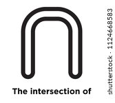 the intersection of symbol icon ... | Shutterstock .eps vector #1124668583
