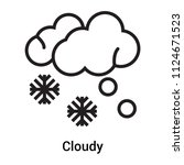 cloudy icon vector isolated on... | Shutterstock .eps vector #1124671523