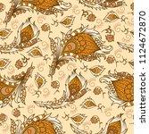 vector ethnic wallpaper.... | Shutterstock .eps vector #1124672870