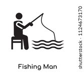 fishing man icon vector... | Shutterstock .eps vector #1124673170