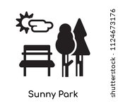 sunny park icon vector isolated ... | Shutterstock .eps vector #1124673176