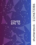trendy blue violet cover page... | Shutterstock .eps vector #1124673386