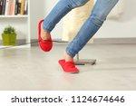close up of a woman legs... | Shutterstock . vector #1124674646