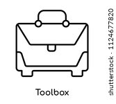 toolbox icon vector isolated on ... | Shutterstock .eps vector #1124677820