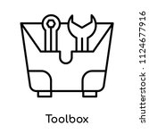 toolbox icon vector isolated on ... | Shutterstock .eps vector #1124677916
