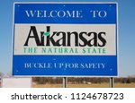 welcome to arkansas   the... | Shutterstock . vector #1124678723