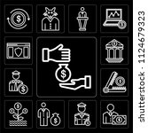set of 13 simple editable icons ... | Shutterstock .eps vector #1124679323