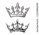 Crowns. Vector Illustration...