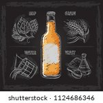 vintage hand drawn vector... | Shutterstock .eps vector #1124686346