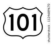 us route 101  filled with white | Shutterstock .eps vector #1124689670