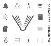 open book icon. detailed set of ... | Shutterstock .eps vector #1124696870