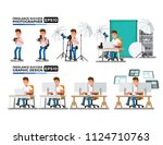 photographers and graphic... | Shutterstock .eps vector #1124710763