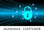 safety concept  closed padlock... | Shutterstock .eps vector #1124713628
